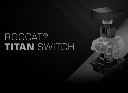 2018 – ROCCAT launches the Titan Switch - grey